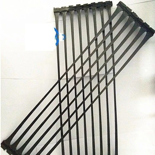 PP HDPE Uniaxial Geogrid Fabric For Retaining Wall Slopes